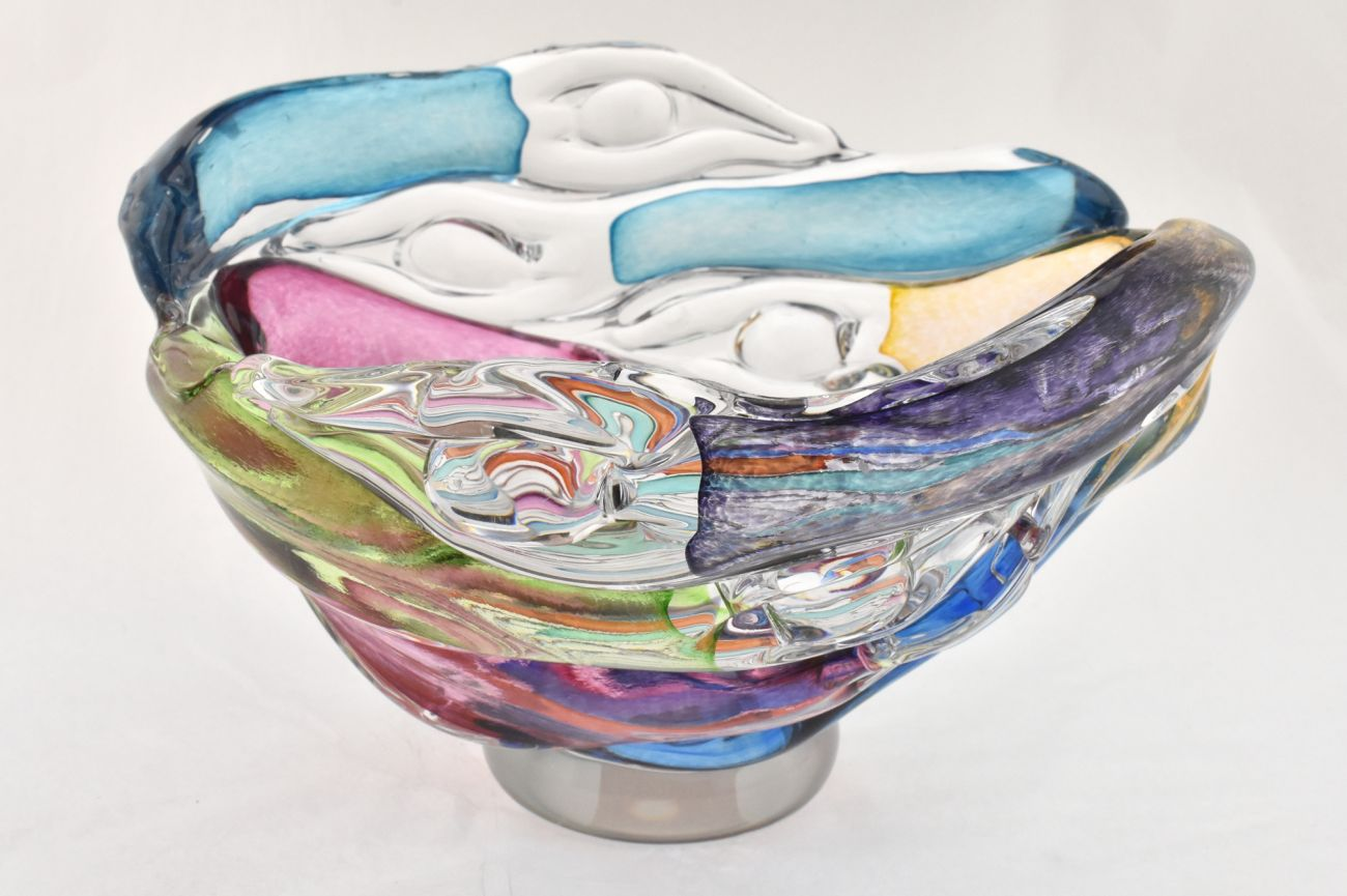 Multicoloured figure bowl