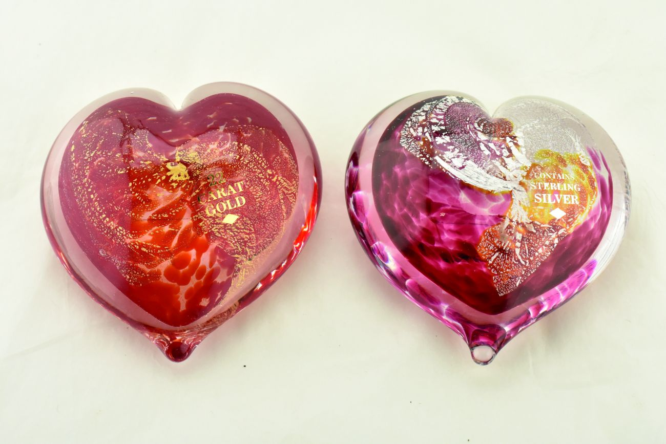 Personalised Art Glass Hearts